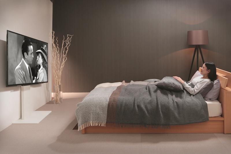 寝室でも快適にお使いいただけます。