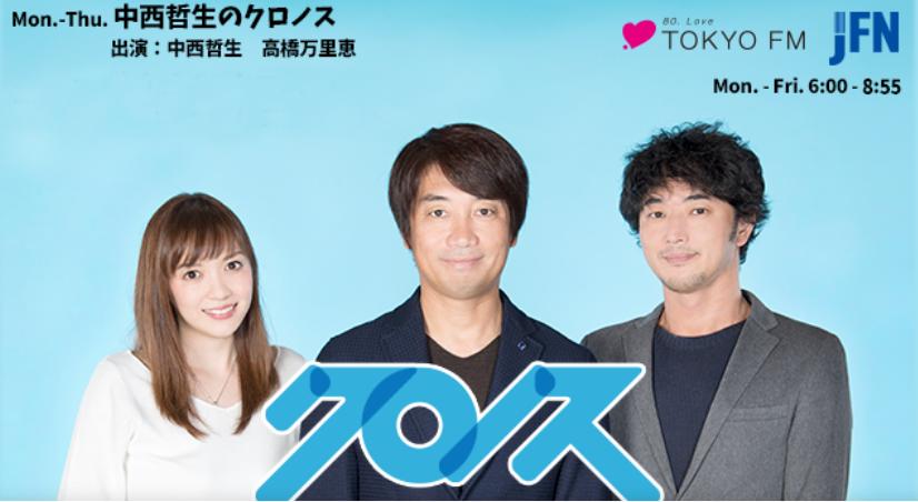 TOKYO FMラジオ「中西哲生のクロノス」番組にて、「こたつシリーズ」1月23日ONAIR